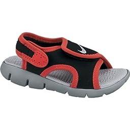 Nike Kids Unisex Sunray Adjust 4 (Infant/Toddler) Black/Light Crimson/Wolf Grey Sandal 3 Infant M