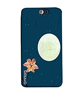 Omnam Stars Moon And Flower Natural Beauty Printed Designer Back Cover Case For HTC One A9