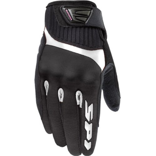 Spidi G-Flash Women's Textile/Vented Street Bike Racing Motorcycle Gloves - Black/White / Small