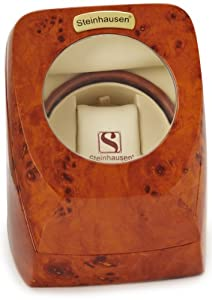 Steinhausen Single Automatic Watch Winder Burl-Wood