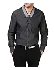 Dazzio Men's Slim Fit Cotton Casual Shirt - B00MNCM6PU