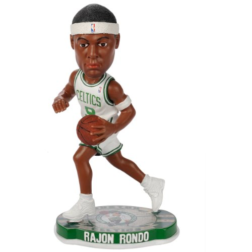 Forever Collectibles Boston Celtics Rajon Rondo #9 official NBA Road Bobblehead
