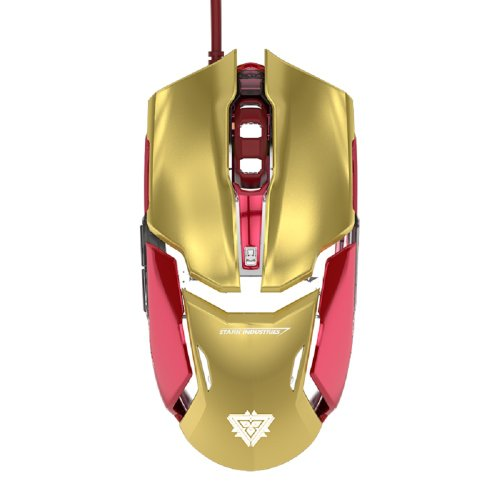 E-Blue Marvel Auroza Iron Man 3 Ems610Goaa-Eu Armor Collection Gaming Wired Mouse