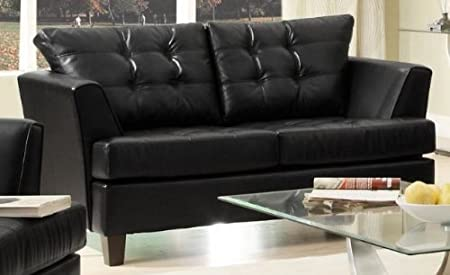 Della Loveseat Color: Black