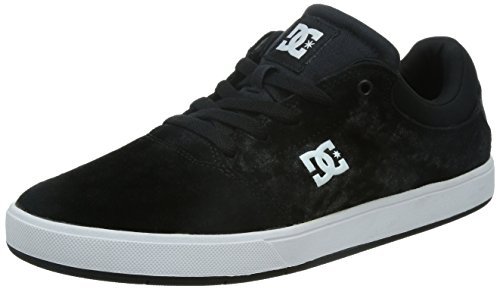 DC Men's Crisis Skate Shoe, Black/White, 8 M US