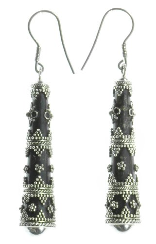 Silver Staff Earring Jewelry of Bali