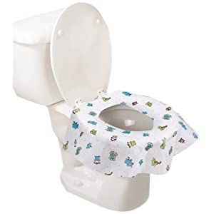 Summer Infant Keep Me Clean Disposable Potty Protectors, Green/White,(Pack of 2), 10-Count