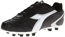 Diadora Men\'s Capitano LT MD Soccer Cleat, Black/White, 10.5 M US