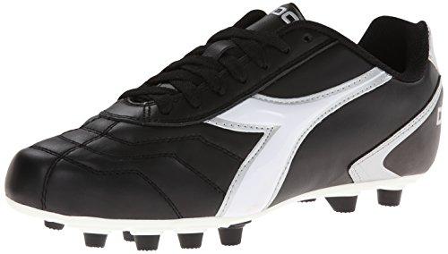 Diadora Men's Capitano LT MD Soccer Cleat, Black/White, 10.5 M US