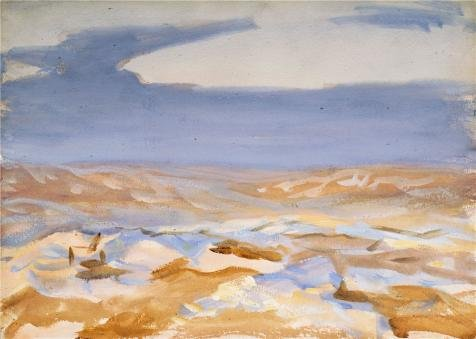 The Perfect Effect Canvas Of Oil Painting 'John Singer Sargent,The Desert From Jerusalem,1905' ,size: 12x17 Inch / 30x43 Cm ,this Beautiful Art Decorative Canvas Prints Is Fit For Bar Decoration And Home Gallery Art And Gifts
