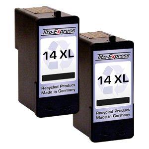 2x Druckerpatrone für Lexmark 14 XL Black X2600 Z2300 Z2310 Z2320 PlatinumSerie