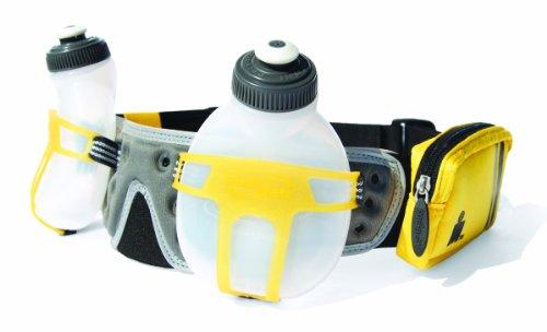 FuelBelt FuelBelt Ironman Collection R2O 2 Bottle Belt, Mango/Carbon, One Size