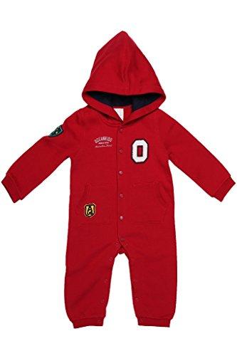 oceankids-baby-jungen-rot-strampler-jersey-mit-kapuze-druckknopfen-und-bundchen-9-12-monate