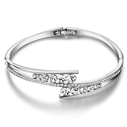 Menton Ezil Love Encounter 925 Silver Plated Hinged Versatile Bangle Bracelet with Extender Clasp (Nickle Back Shirts compare prices)
