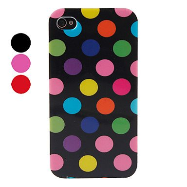 Zlxusa (Tm) Dot Pattern Silicone Case For Iphone 4/4S Black