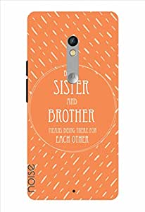Noise Being Sister And Brother-Orange Printed Cover for Motorola Moto X Play