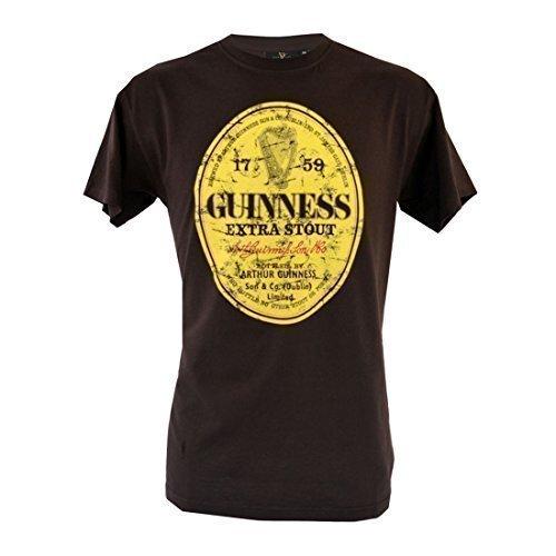 marron-guinness-distressed-label-camiseta-s-xxl-algodon-marron-marron-100-algodon-hombre-m