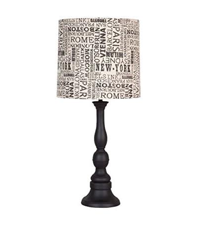 Applied Art Concepts Somersette Table Lamp, Black/Beige