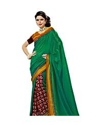 Prafful Silk Bhagalpuri Printed Saree With Unstitched Blouse - B00KNUS1UI