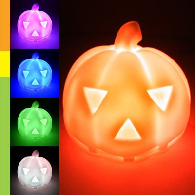 Color Changing Led Pumpkin Head Mood Lamp Night Light Children front-329551