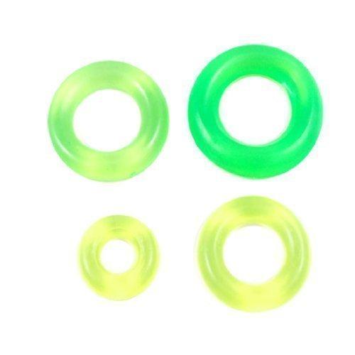 Angelruten gelbgrün Karpfenangeln Gummi Antirutsch Kreis Pelerine O-Ring 8 Stk de