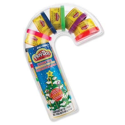 Play-Doh Holiday Pack Candy Cane with 10 Mini Cans - 1