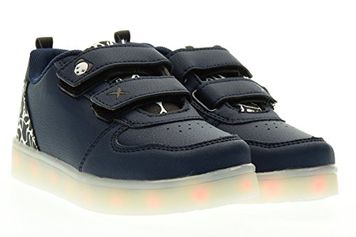 WIZE & OPE junior sneakers basse con strappo NAVY CAM BW 33 Blu