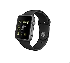 Apple MJ3T2B/A 42 mm Sport Band Watch - Space Grey/Black