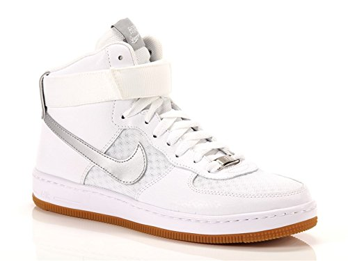 Nike, Donna, Wmns Air Force 1 Ultra Force Mid, Pelle / Mesh, Sneakers Alte, Bianco, 39 EU