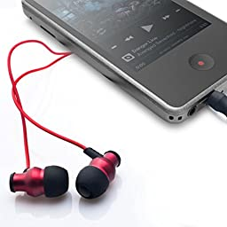 Brainwavz Delta Red IEM Earphones With Remote & Mic For Android Phones, Tablets & Other Android OS Devices