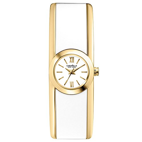 Carvelle New York Women's Quartz Watch with White Dial Analogue Display and White Bangle - 44L144