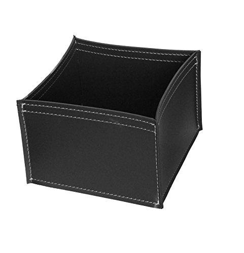KOME 531: Set svuota tasche in cuoio rigenerato composto da 3 pezzi, colore Nero.