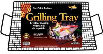 1 X Non-stick Grilling Tray (Great for Vegetables, Shrimp & Fish) (Fish Rack For Grilling compare prices)
