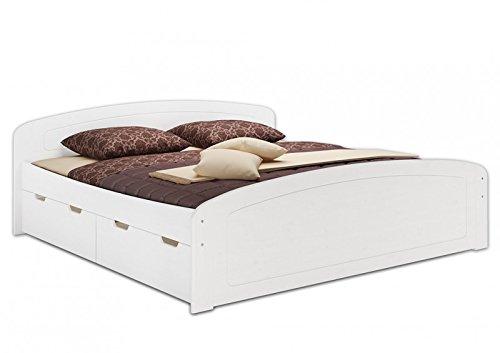 6050-18-W-Bett-weiss-180x200-cm-Kiefer-mass-mit-3-Stauksten-kompl-mit-Rollrost