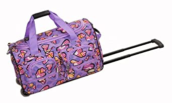 Rockland Luggage Rolling 22 Inch Duffle Bag, Love, One Size