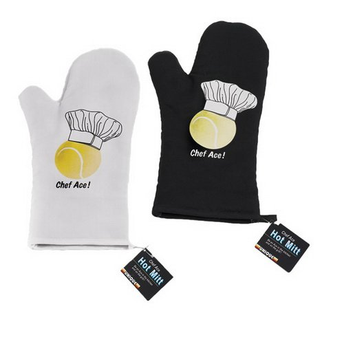 Unique MIT-W/MIT-BK Cooking Hot Mitt - Black