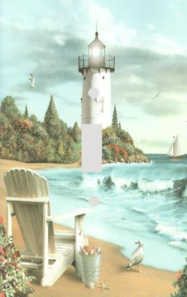 Beach Lighthouse Decorative Switchplate Cover