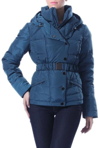 Best Jessie G. Women's Pillow Collar Quilted Belted Waist Length Down Jacket