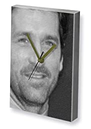 PATRICK DEMPSEY - Canvas Clock (LARGE A3 - Signed by the Artist) #js001