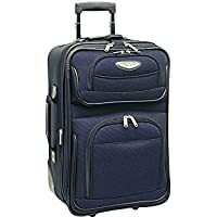 Traveler's Choice Amsterdam Two Piece Carry-On Luggage Set (Navy) (21