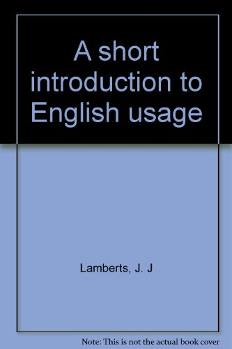 A short introduction to English usage PDF
