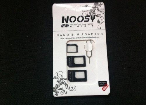 mobee Nano SIM MicroSIM 変換アダプタ 3点セット For iPhone 5 4S 4 ナノシム→SIMカードorMicroSIM MicroSIM→SIMカード
