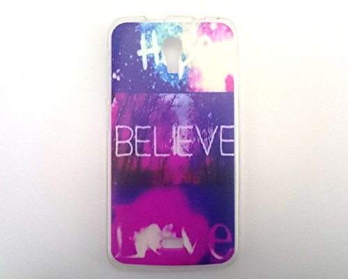 coverstop® COVER hope believe love BIEBER FANTASY CUSTODIA BUMPER PER WIKO BLOOM M179