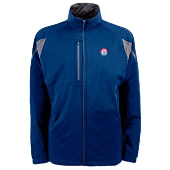 MLB Men's Texas Rangers Highland Jacket (Dark Royal/Gunmetal, Small)