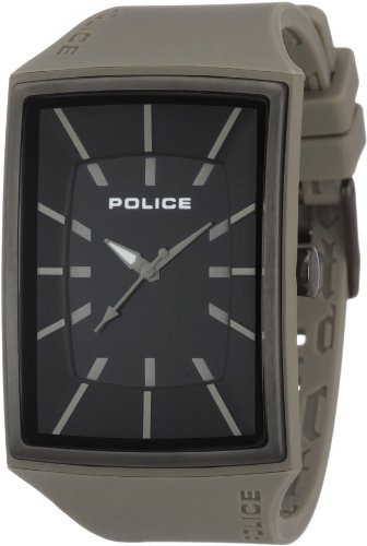 Police Men's Vantage X Watch 13077Mpgyu/02 with Grey Pu Strap and Black Dial