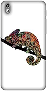 The Racoon Lean Chameleon hard plastic printed back case / cover for HTC Desire 816g