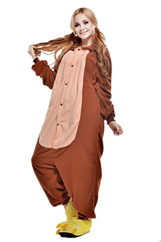 Brown Monkey Christmas Carnival Costumes Anime Onesie Adults Kigurumi Pajamas Cosplay