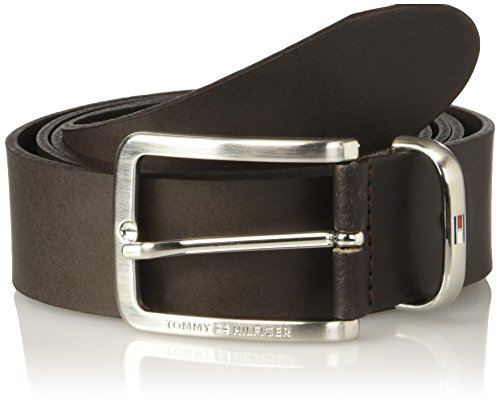 Tommy Hilfiger Metal Keeper Belt 3.5 Adj, Cintura Uomo, Marrone (Dark Brown), 115 (Taglia Produttore:115)