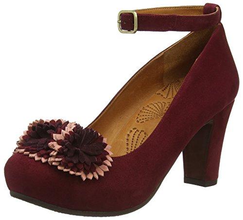 Chie Miharasambuca - Decolleté con cinturino alla caviglia donna , Rosso (Rot (ante burdeos degrade grape)), 41