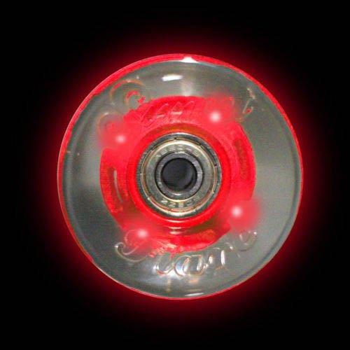 Led Skateboard Longboard Wheels Sunset Flare 59Mm Red Light Up